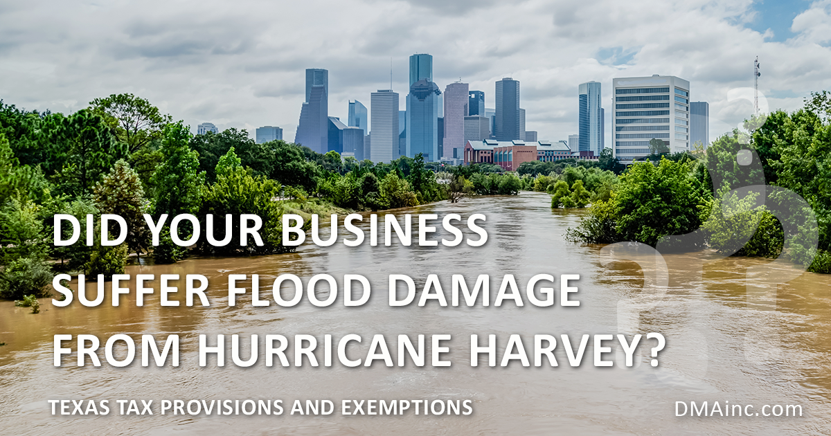 DMA Business Damage Relief for Hurrican Harvey and Natural Disasters