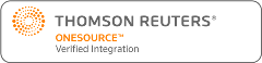 Thomson Reuters ONESOURCE Verified Integration Logo